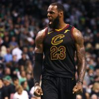 """For Cleveland has LeBron, who's earned his riches and his fame//By demonstrating how one man can rule this great team game."" (Maddie Meyer/Getty Images)"