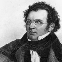 An 1820s engraving of Austrian composer Franz Peter Schubert, by Weger. (Rischgitz/Getty Images)