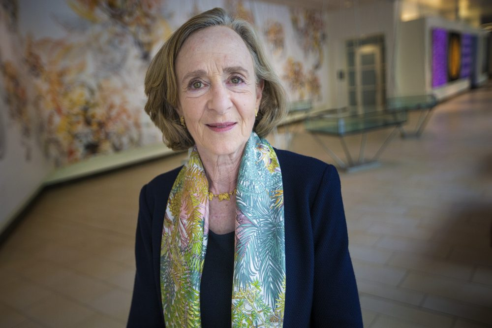 Neuroscientist and former MIT President Susan Hockfield at the David H. Koch Institute for Integrative Cancer Research (Jesse Costa/WBUR)