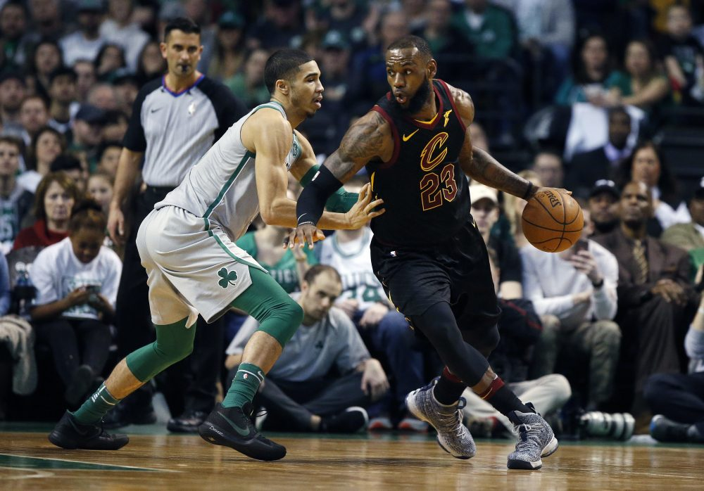 Two key players to watch in the series: the Celtics' Jayson Tatum and, of course, Cavaliers leader LeBron James (Michael Dwyer/AP)