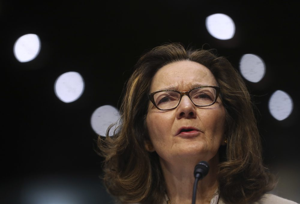 Gina Haspel testifies during a confirmation hearing of the Senate Intelligence Committee, on Capitol Hill, Wednesday, May 9, 2018 in Washington. (Pablo Martinez Monsivais/AP)
