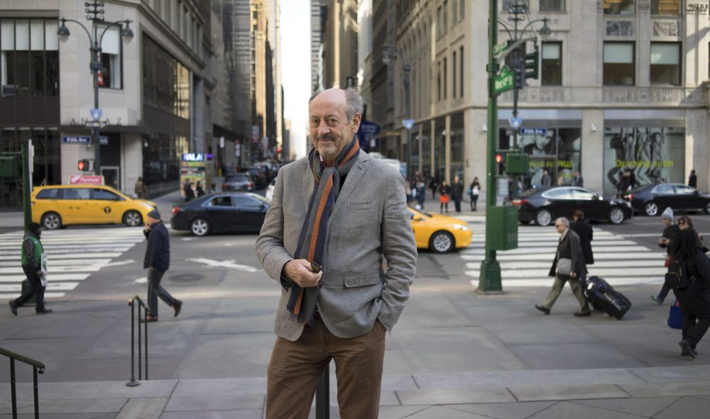 Billy Collins in New York City.  (Courtesy of Bill Hayes)
