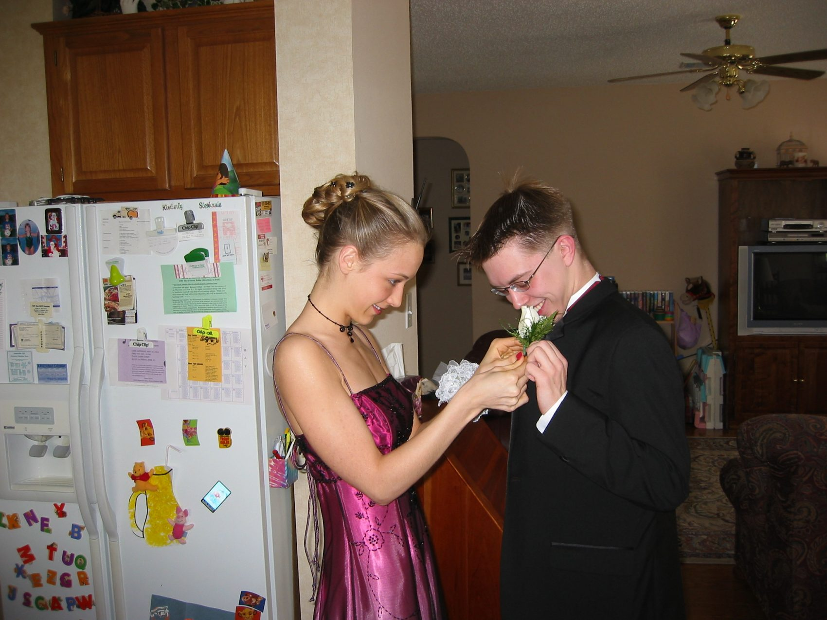 getting ready for prom