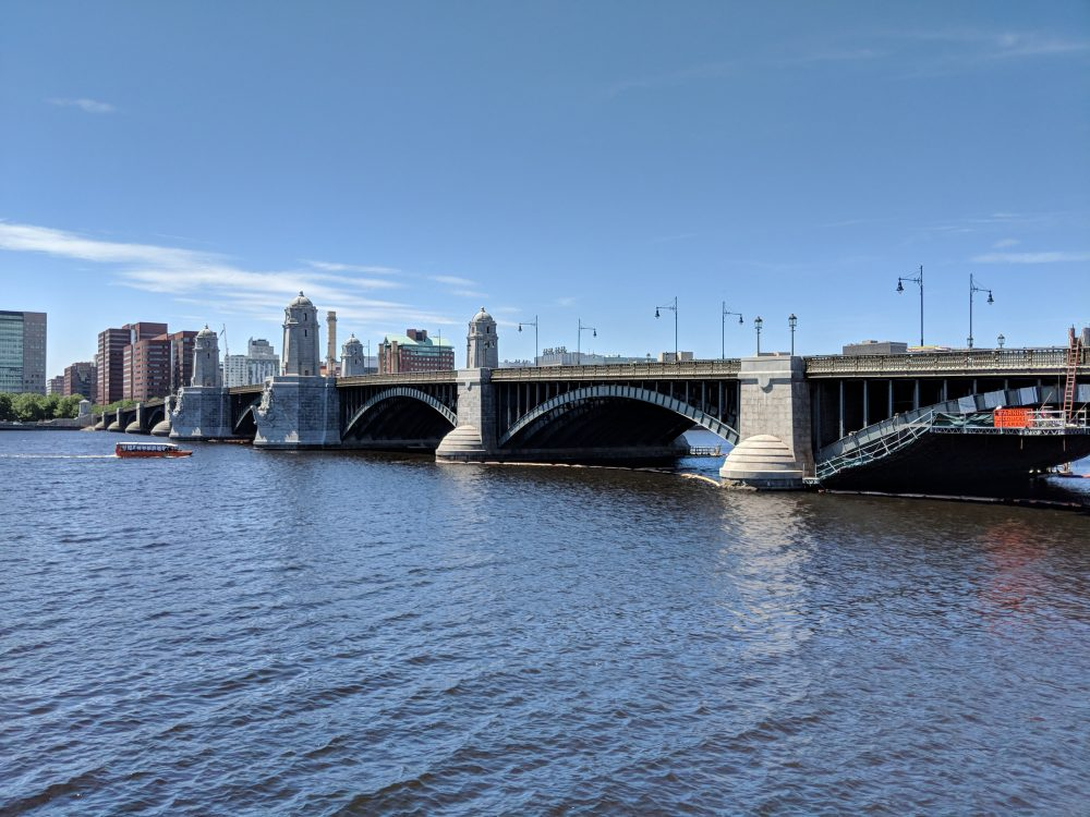 After five years of work, the Longfellow Bridge connecting Boston and Cambridge has reopened. (Jamie Bologna/WBUR)