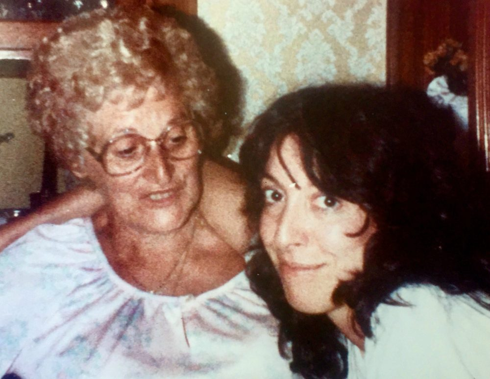Marianne Leone is pictured with her mother at a house party in 1983. (Courtesy of the author)