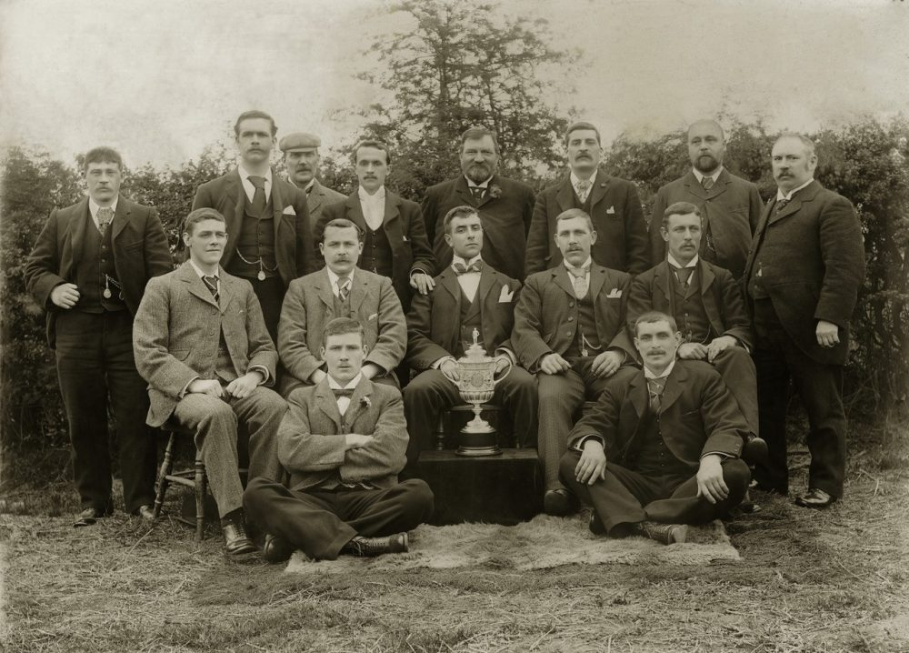 Fred Spiksley was a star footballer for Sheffield Wednesday from 1891-1903. He won the FA Cup, pictured above. And then he joined the circus. (Courtesy Clive Nicholson)