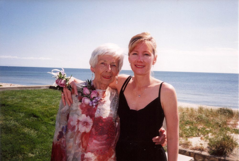 The author, right, with her mother, Mary Reed, in 1998. (Courtesy)