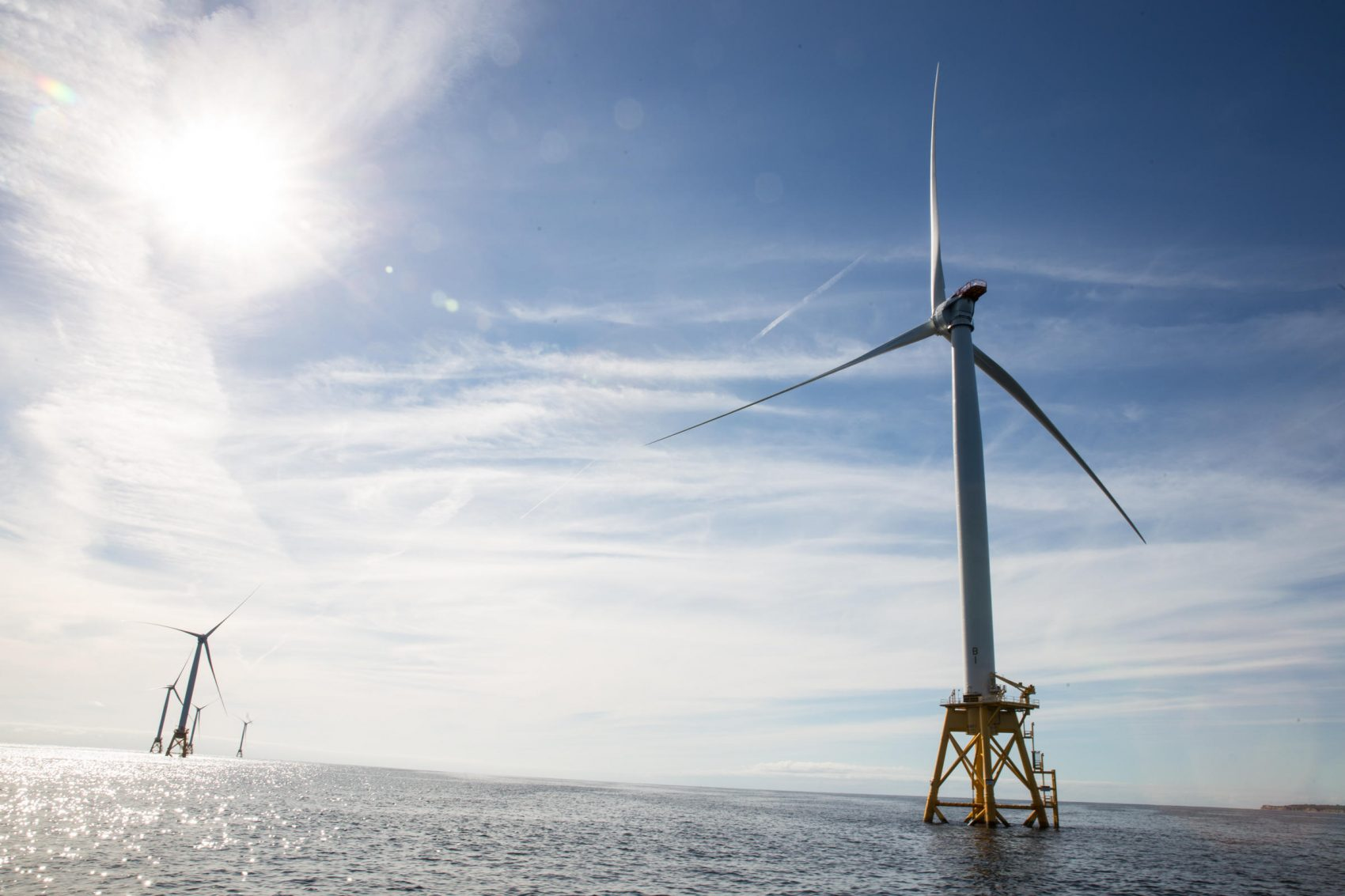 The Block Island wind farm has been up and running since late 2016. (Ryan Caron King/New England News Collaborative)