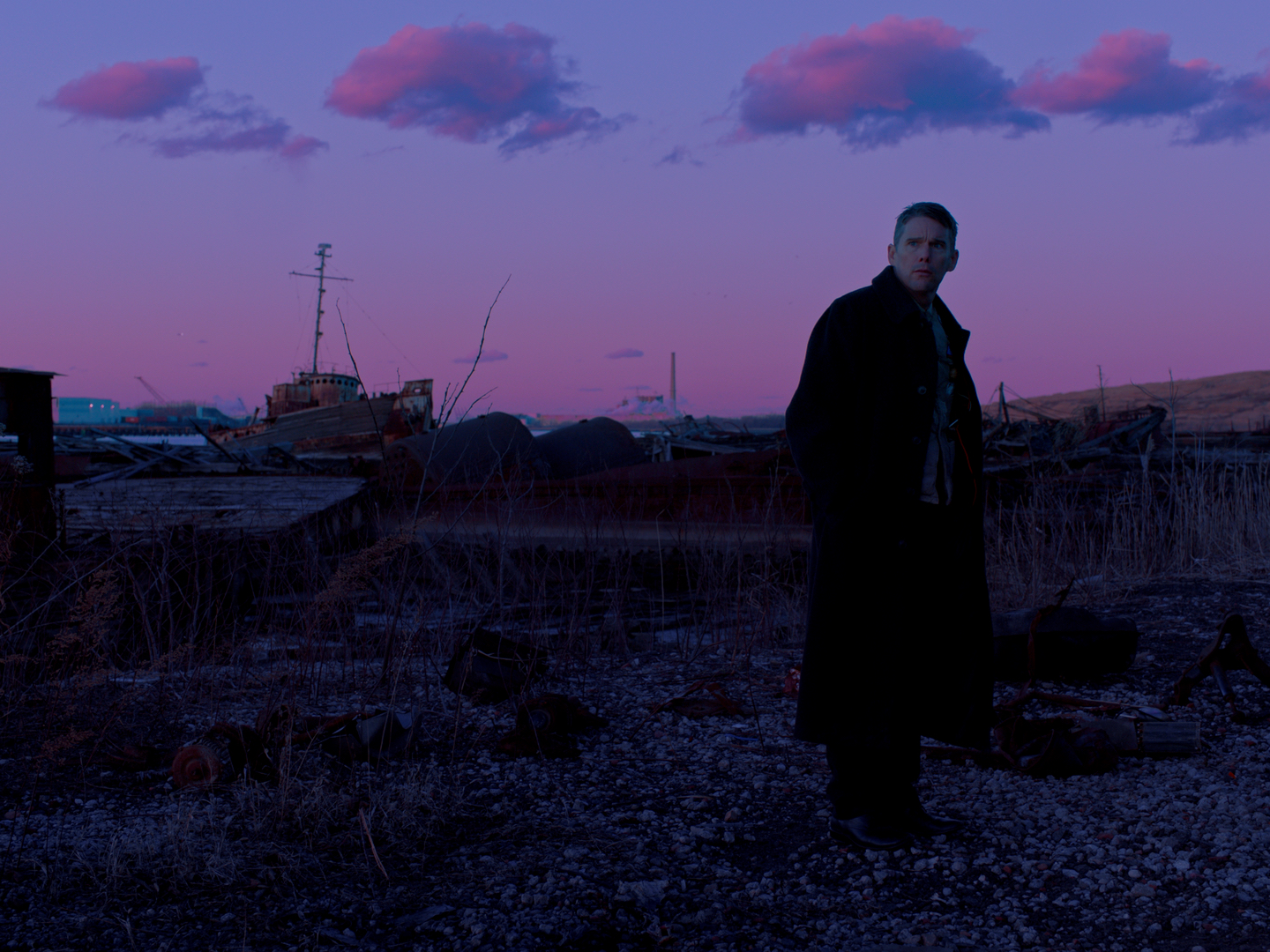 "Ethan Hawke as Reverend Ernst Toller in ""First Reformed."" (Courtesy A24)"
