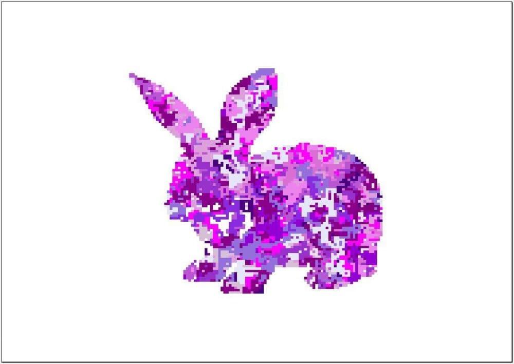 Pixel Bunny, Digital, 150x100 pixels. (u/Qyzyz)