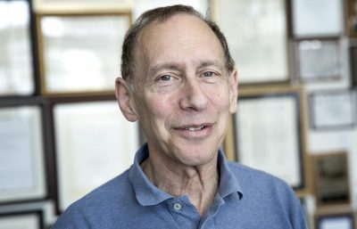 "Robert Langer, who's been called the ""Edison of Medicine,"" is an institute professor at MIT who has founded 40 companies in nearly as many years. (Robin Lubbock/WBUR)"