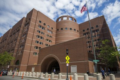 Boston's Moakley Courthouse, where the SFFA v. Harvard trial was held. (Jesse Costa/WBUR)