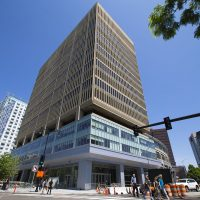 The Cambridge Innovation Center at 1 Broadway is home to 25 biotech companies, according to one tally. (Jesse Costa/WBUR)