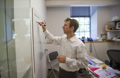 Johannes Fruehauf is co-founder and president of LabCentral, a shared laboratory space. (Jesse Costa/WBUR)