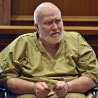 Convicted child rapist Wayne Chapman appears for his arraignment on Wednesday in Ayer, Mass. (Chris Christo/The Boston Herald via AP, Pool)