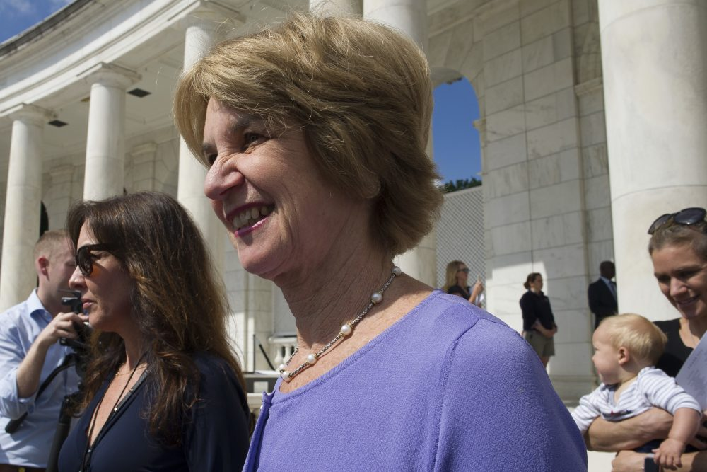 "Kathleen Kennedy Townsend arrives for the ""Celebration of the Life of Robert F. Kennedy"" at Arlington National Cemetery in Arlington on Wednesday. (Cliff Owen/AP)"