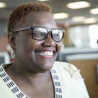 Karen Freeman-Wilson, mayor of Gary, Ind. (Robin Lubbock/WBUR)