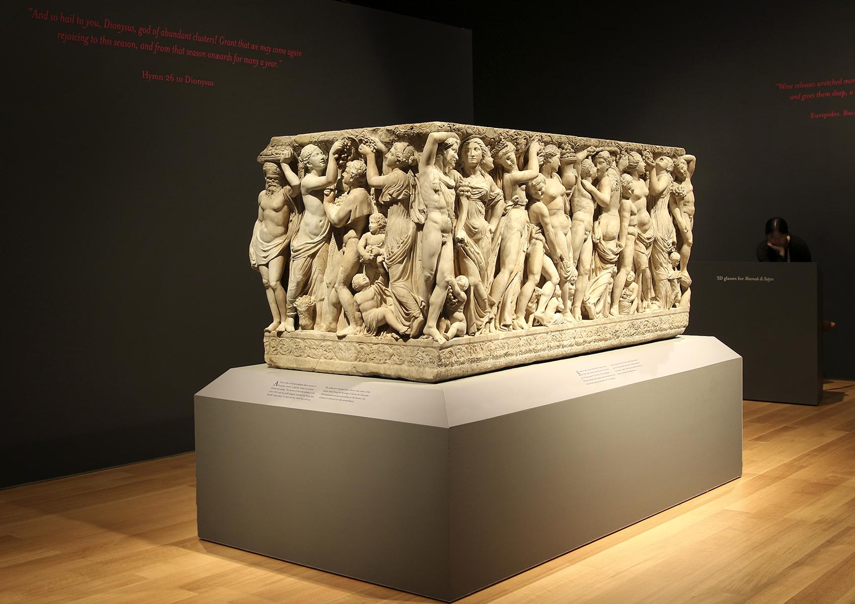 The Farnese Sarcophagus, which has been sitting, almost hidden, in the Isabella Stewart Gardner Museum's courtyard, is on display in a new exhibit. (Courtesy Sarah Whitling/Isabella Stewart Gardner Museum)