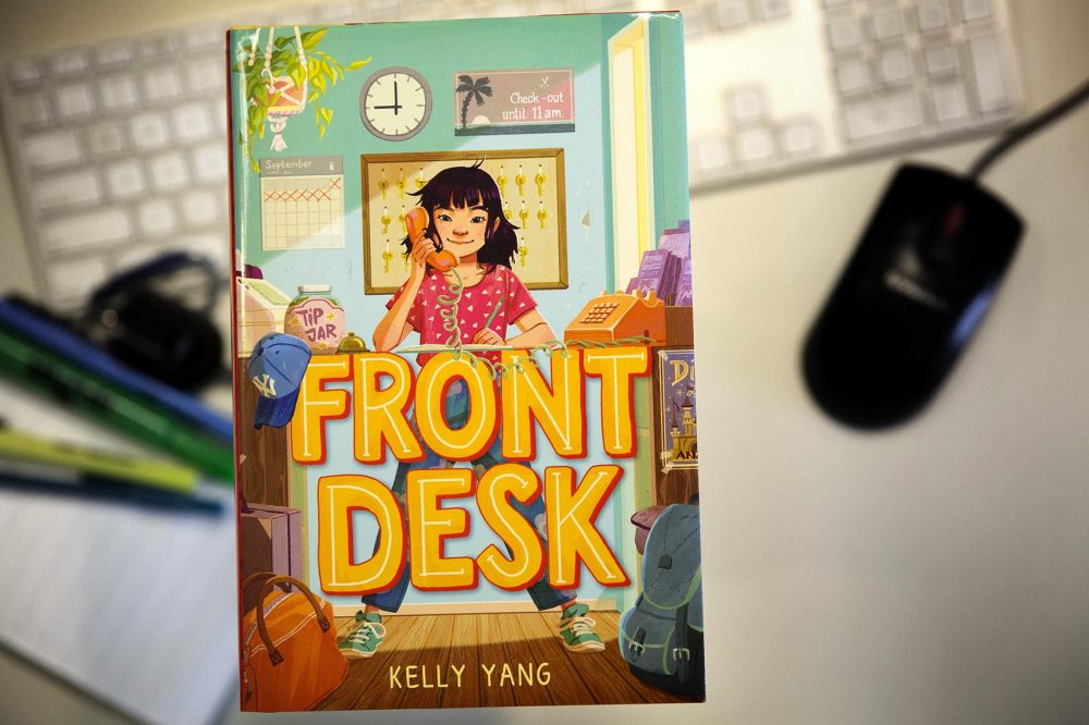"""Front Desk,"" by Kelly Yang. (Robin Lubbock/WBUR)"
