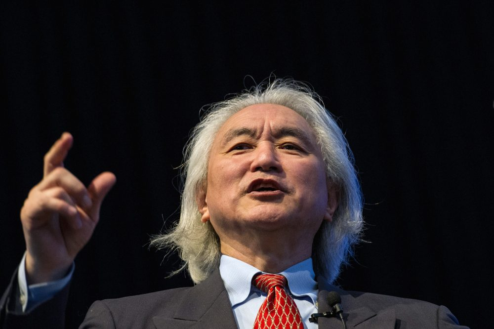 Michio Kaku, a theoretical physicist and the co-founder of string field theory, gives a lecture in 2012. (Yasuyoshi Chiba/AFP/Getty Images)