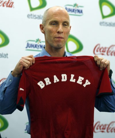 Bob Bradley in 2011 with the Egyptian national team. (Khalil Hamra, file/AP)