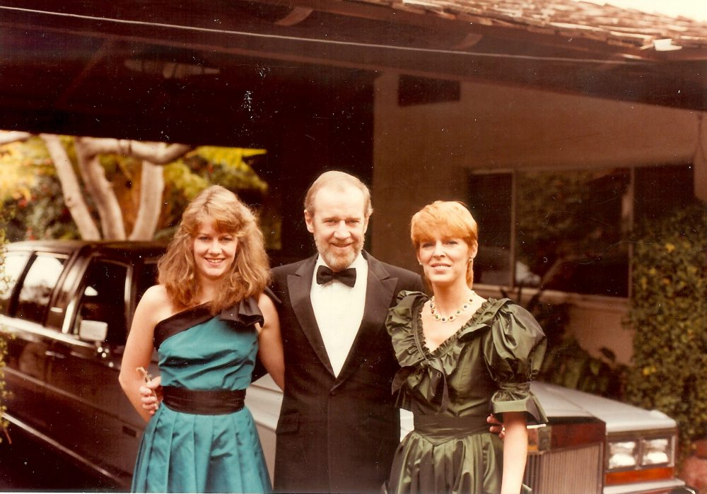 George Carlin's  daughter, Kelly (left), has many fond memories of her father and sports. (Courtesy Kelly Carlin)