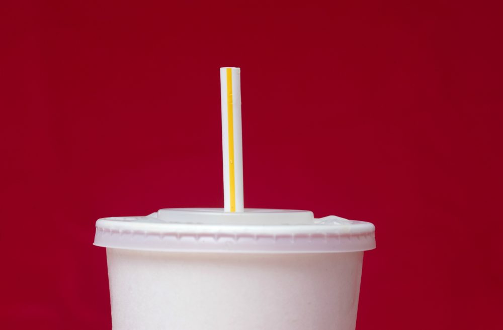 A large soft drink with a plastic straw from a McDonald's restaurant is shown, Thursday, May 24, 2018, in Surfside, Fla. (Wilfredo Lee/AP)