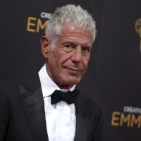 In this Sept. 11, 2016 file photo, Anthony Bourdain arrives at night two of the Creative Arts Emmy Awards at the Microsoft Theater in Los Angeles.   Bourdain has been found dead in his hotel room in France, Friday, June 8, 2018,  while working on his CNN series on culinary traditions around the world. (Richard Shotwell/AP)