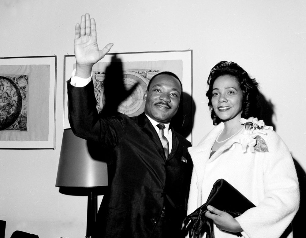 Martin Luther King Jr. and Coretta Scott King on June 8, 1964 in new York. (AP)
