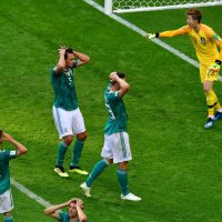 Germany lost. Germany's out of the 2018 World Cup. (Luis Acosta /FP/Getty Images)