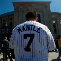 """""""From that day until the end of his days, he called me 'Mantle,' the Yankees' incredibly swift, strong home-run hitter."""" (Mario Tama/Getty Images)"""