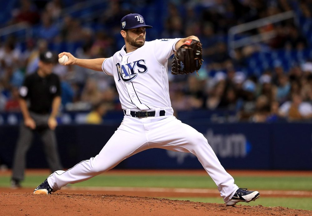 The Tampa Bay Rays have used just four starting pitchers this year, with relievers filling the last day of the rotation. (Mike Ehrmann/Getty Images)