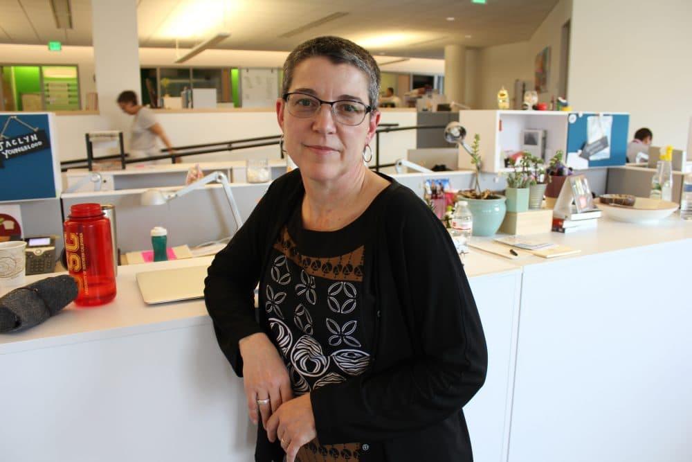 Boston Public Schools Interim Superintendent Laura Perille at BPS headquarters in Roxbury (Paris Alston/WBUR)