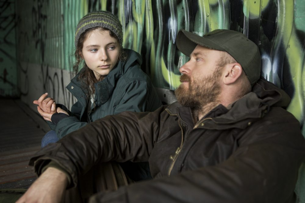 "Thomasin Harcourt McKenzie as Tom and Ben Foster as Will in Debra Granik's ""Leave No Trace."" (Courtesy Scott Green/Bleecker Street)"