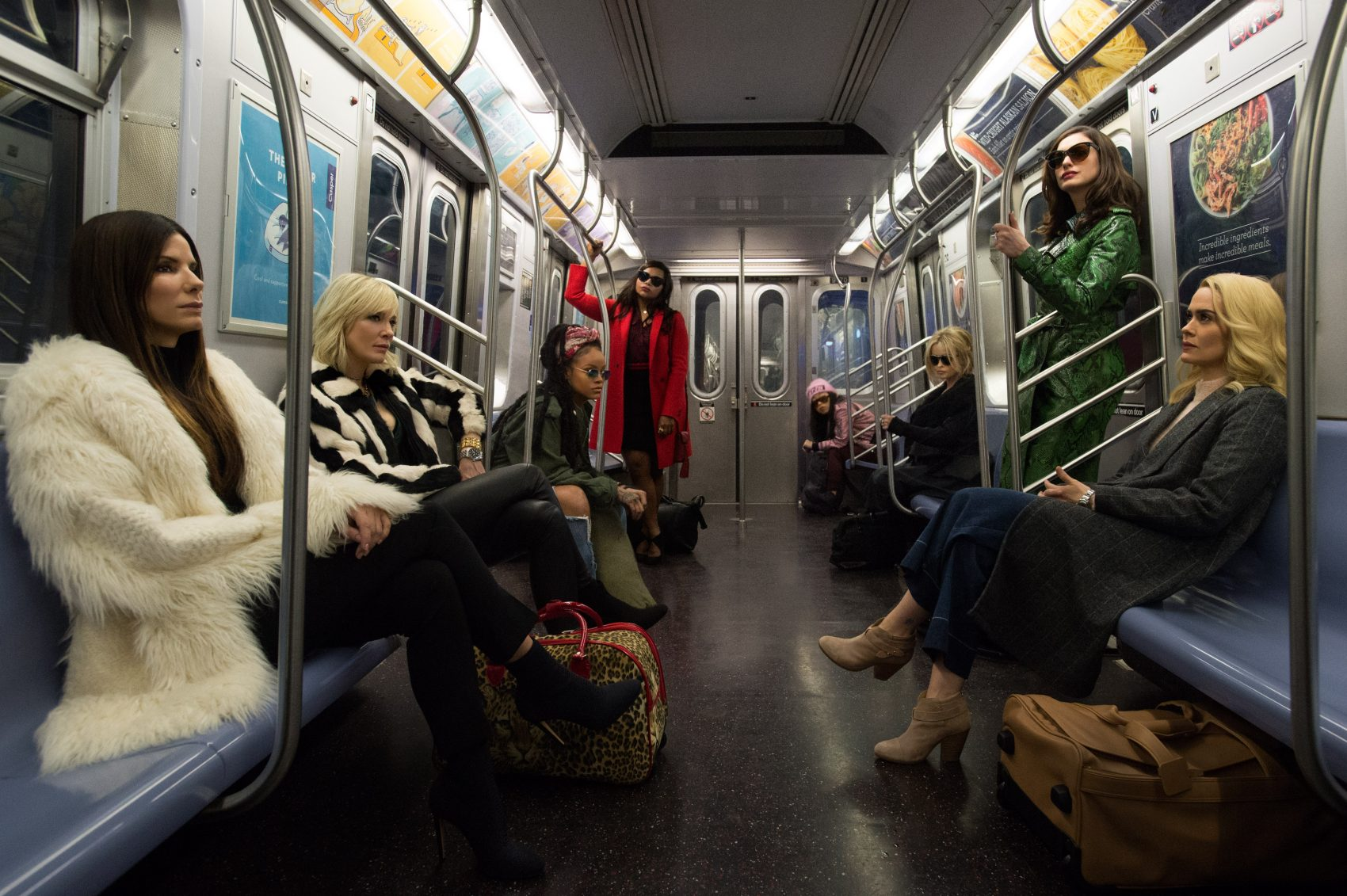 "The cast of ""Ocean's 8."" (Courtesy Barry Wetcher/Warner Bros.)"
