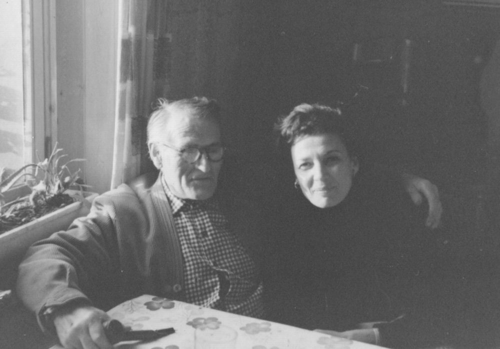 In 1965, the author's mother returned to Belgium to see Fernand Esnault, who hid her and her mother during the Holocaust. (Photo courtesy of Edith Goldenhar)