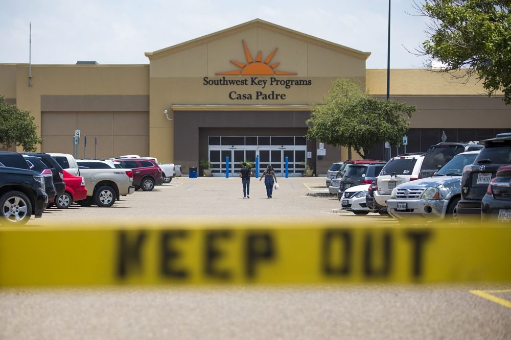 This former Walmart is now a shelter for more than 1,000 children in Brownsville, Texas. (Jesse Costa/WBUR)
