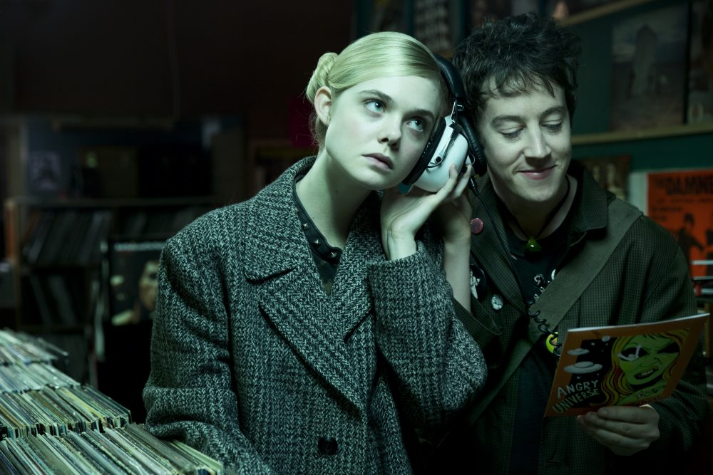 "Elle Fanning and Alex Sharp in the film ""How to Talk to Girls at Parties."" (Courtesy Dean Rogers/A24)"