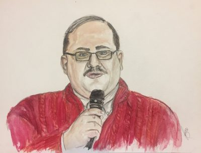 Ken Bone in watercolor, 11x16, by u/Future_Mrs_Nic_Cage. Find her on Instagram and Twitter @lisa_bizzle