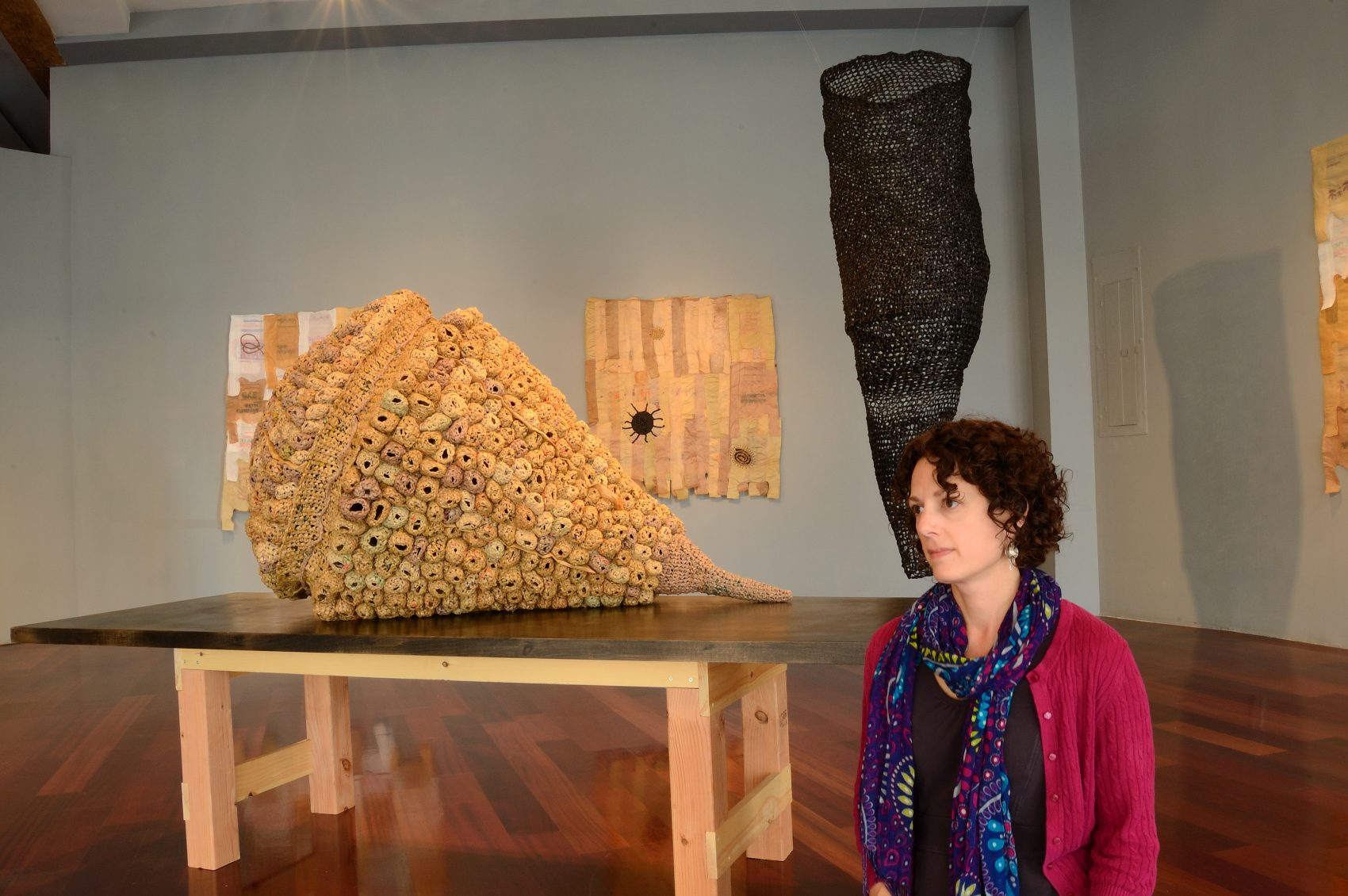 """Gallery view Michelle Lougee with the gallery showing of """"Material Nature."""" (Courtesy)"""