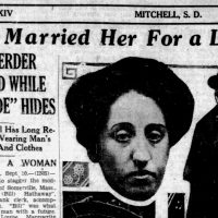 A headline in the Evening Republican, a newspaper in South Dakota, in 1928 about one of Ethel Kimball's arrests. (Courtesy The History Project)