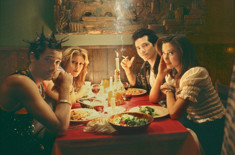 "Adrien Brody, Jennifer Esposito, John Leguizamo and Mira Sorvino in ""Summer of Sam."" (Courtesy Buena Vista Pictures)"
