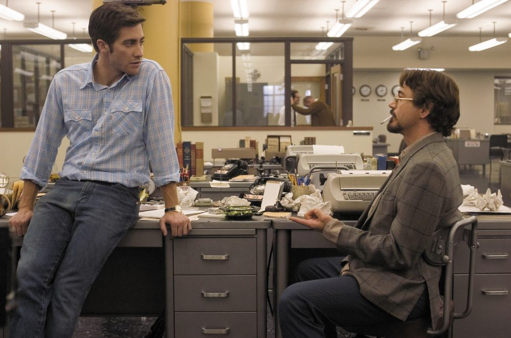 "Jake Gyllenhaal and Robert Downey Jr. in ""Zodiac."" (Courtesy Paramount Pictures)"