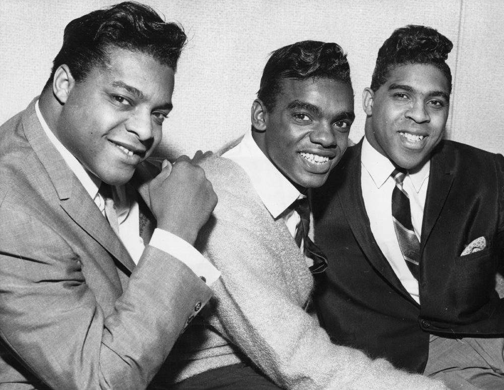 American soul vocal pop group The Isley Brothers on tour in Britain in 1964. (Evening Standard/Getty Images)