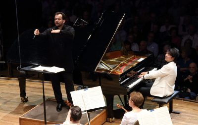 Lang Lang joins Andris Nelsons and the BSO on opening night at Tanglewood. (Courtesy Hilary Scott/BSO)