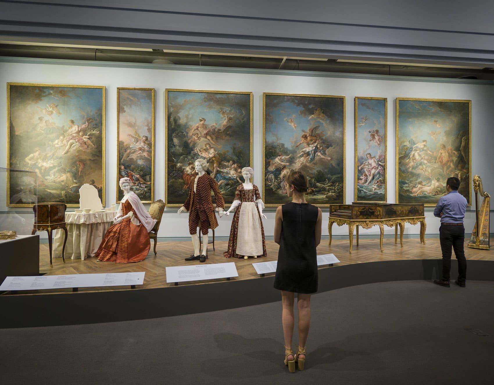 """A view of the MFA's exhibit, """"Casanova's Europe: Art, Pleasure, and Power in the 18th Century."""" (Courtesy Museum of Fine Arts, Boston)"""