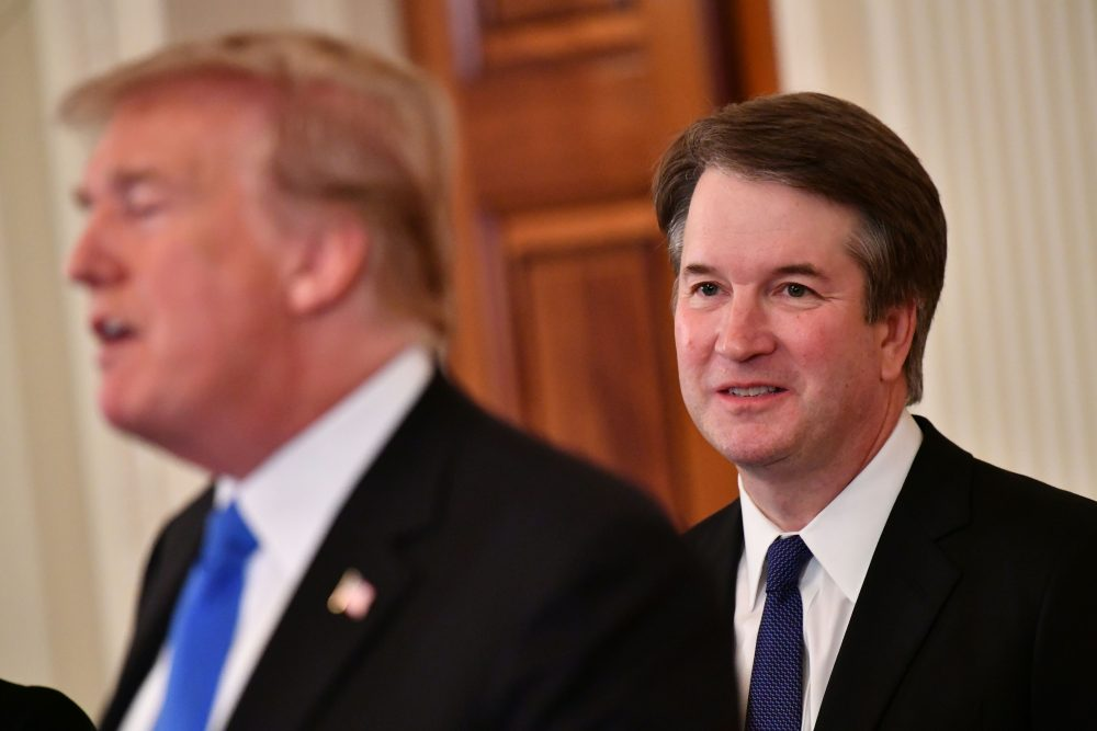 Supreme Court nominee Brett Kavanaugh listens to President Trump announcing his nomination in the East Room of the White House on July 9, 2018 in Washington, D.C. (Mandel Ngan/AFP/Getty Images)