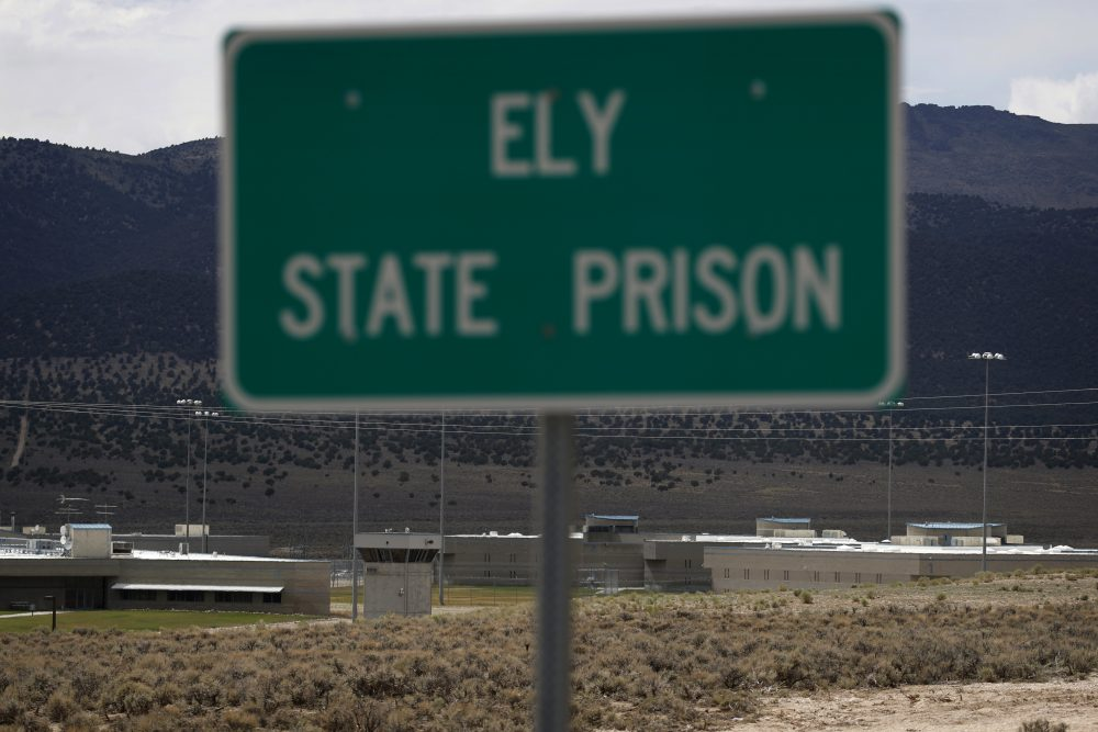 A sign marks the entrance to Ely State Prison, the location of Nevada's execution chamber, Wednesday, July 11, 2018, near Ely, Nev. A Nevada judge effectively put the execution of Scott Raymond Dozier on hold Wednesday after a pharmaceutical company objected to the use of one of its drugs to put someone to death. (John Locher/AP)