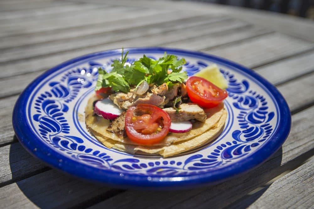 Chicken and black bean taco. (Jesse Costa/WBUR)