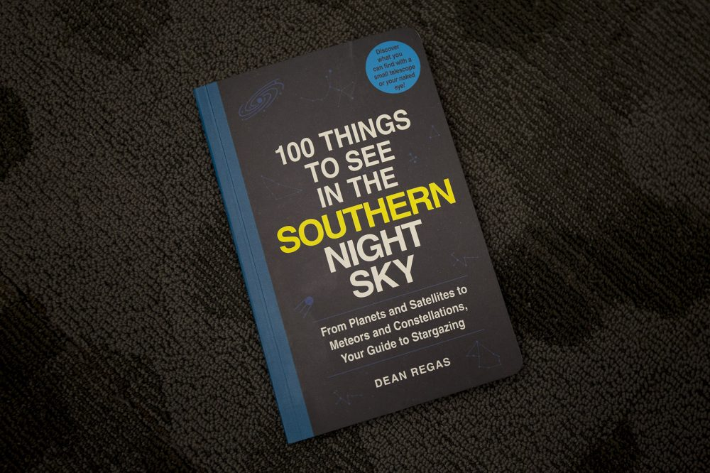 """""""100 Things to See in the Southern Night Sky,"""" by Dean Regas. (Jesse Costa/WBUR)"""